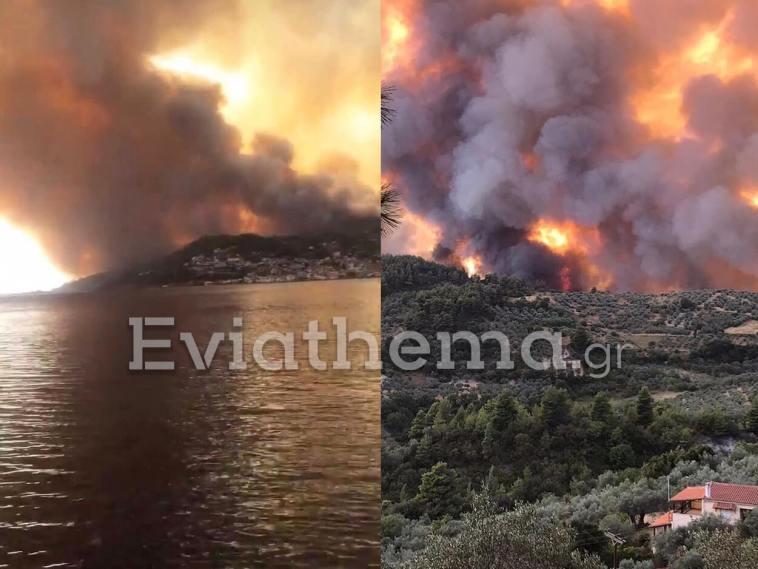 ΕΚΤΑΚΤΟ: Φωτιά στην Βόρεια Εύβοια