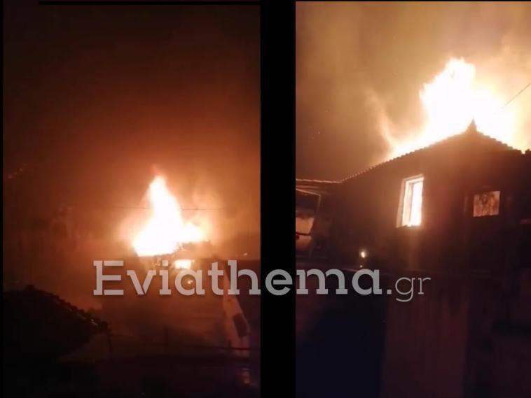 Εύβοια Κάτοικοι έσωσαν τα χωριά φωτιά