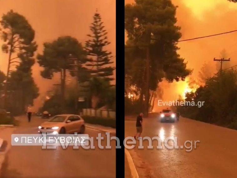 Καίγονται σπίτια στο Πευκί