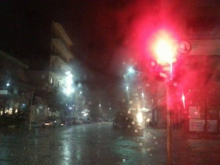 βροχόπτωση στο Μαντούδι