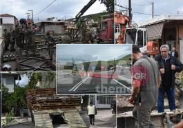 Πολιτικά Ευβοίας: Συνεργείο του Στρατού τοποθετεί την νέα γέφυρα