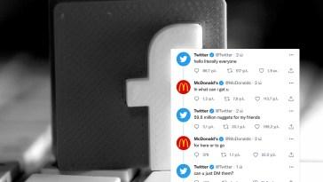 Twitter και Macdonald's για το Facebook