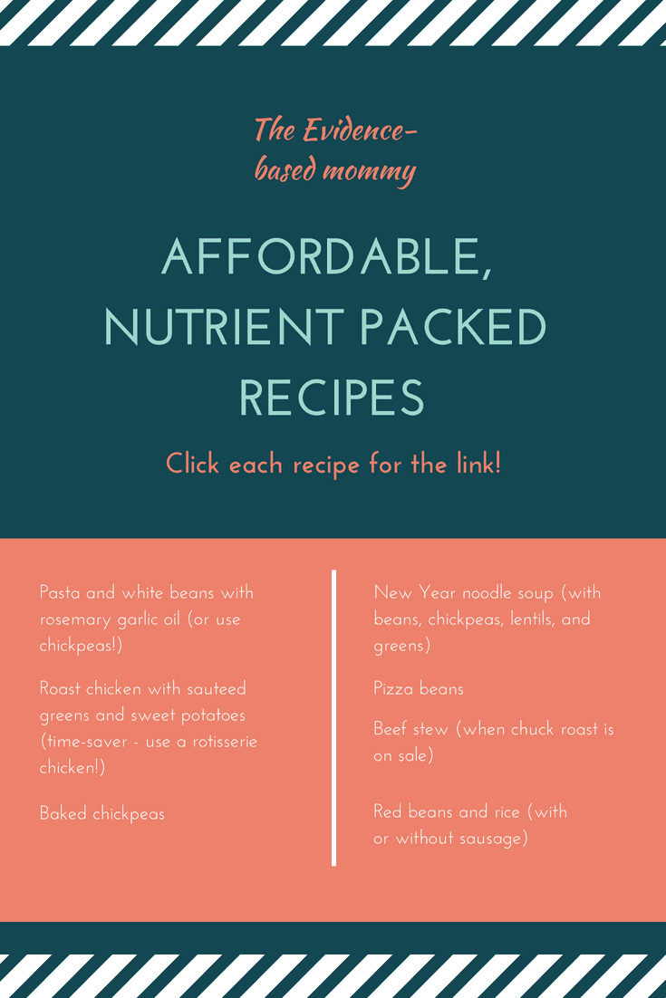 AFFORDABLE, NUTRIENT PACKED RECIPES