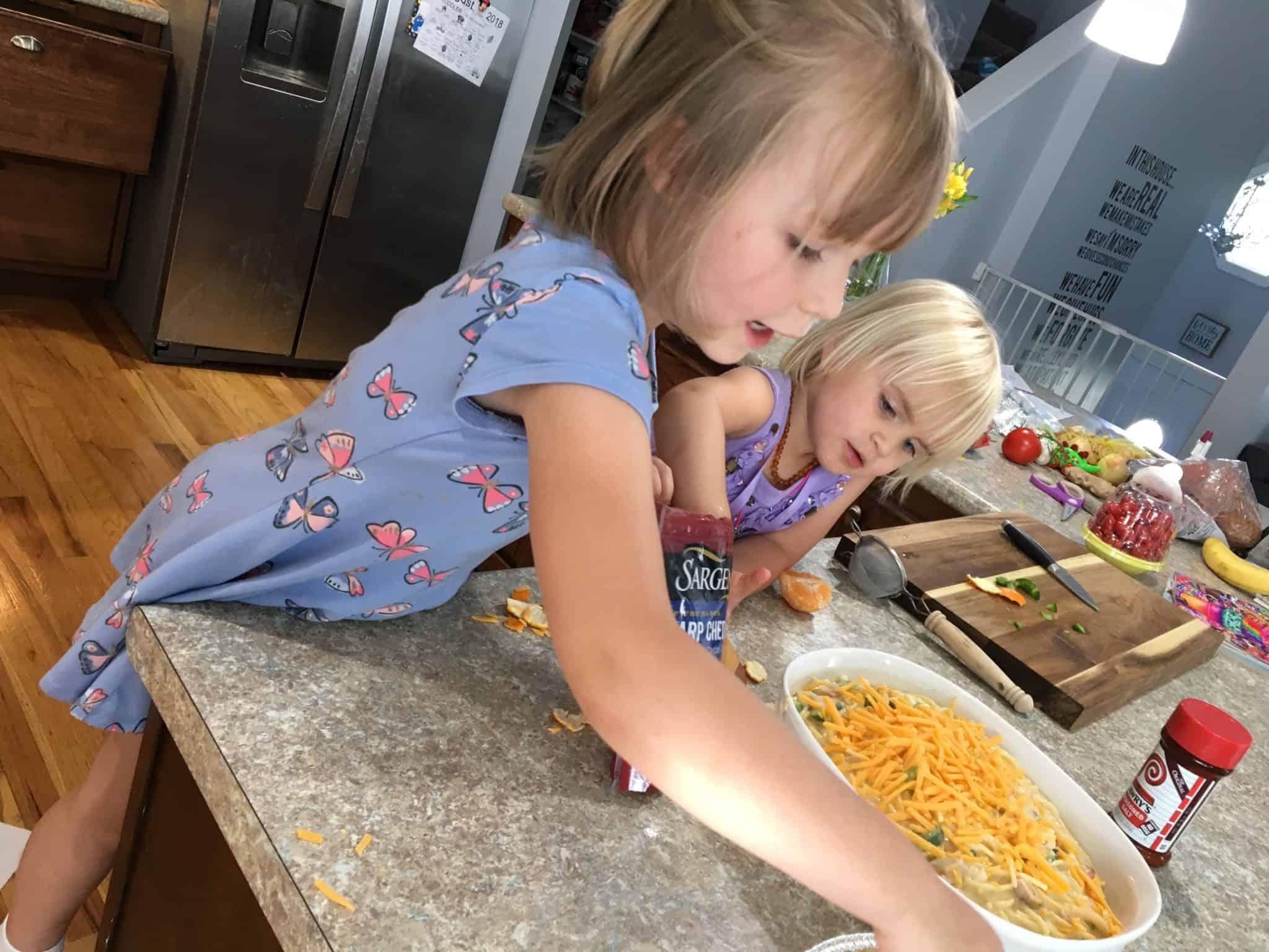 preschooler in the kitchen