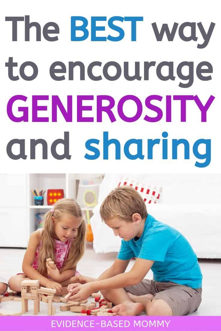 teach generosity and turn taking