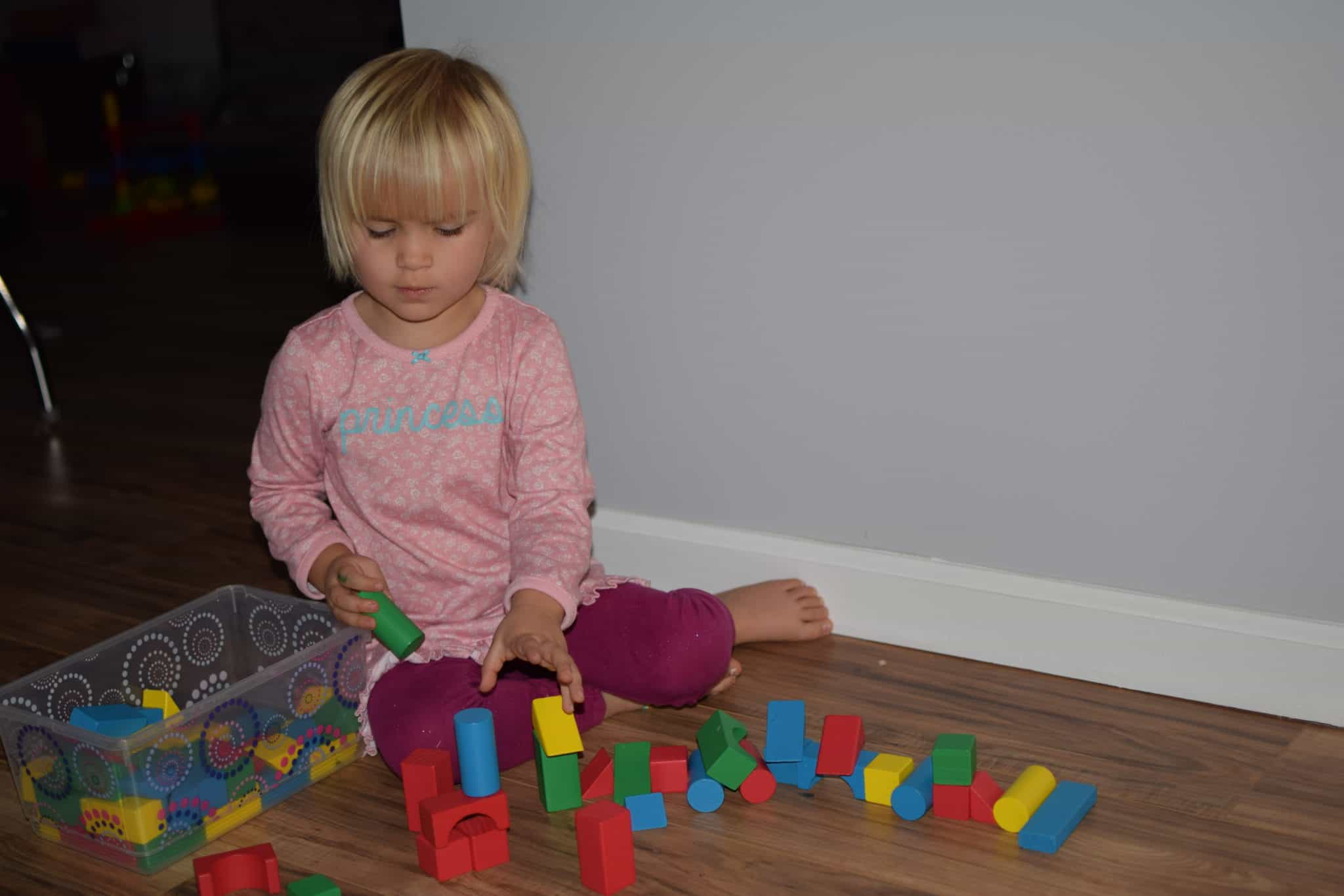 Little girl playing