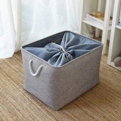 storage basket for quick toy sweep