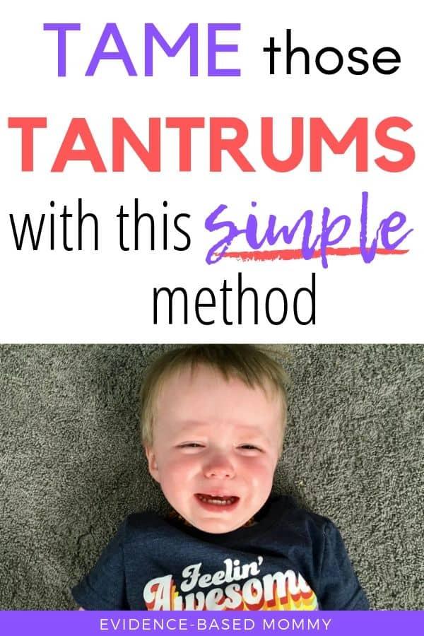 calm toddler tantrums