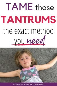 How to calm tantrums