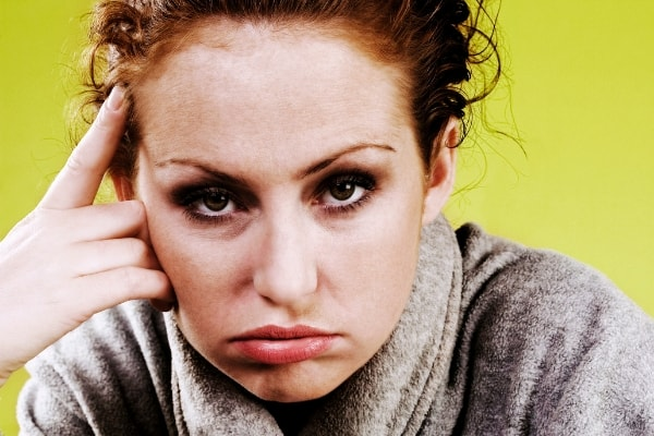 irritable woman