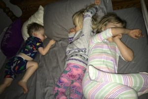 three sleeping kids