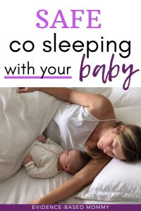safe co sleeping with baby