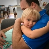 little girl with daddy