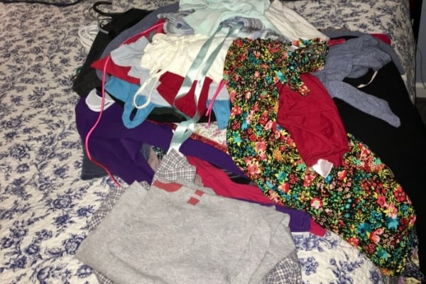 donated clothes