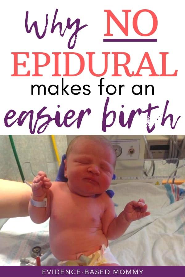 no epidural is better