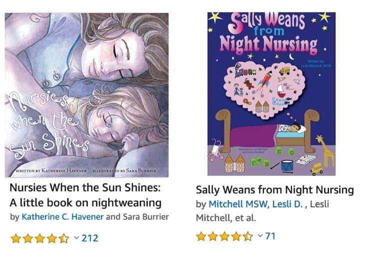 This image has an empty alt attribute; its file name is night-weaning-books.jpg
