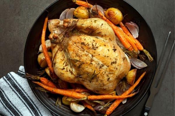 Roast-chicken-to-make-stock