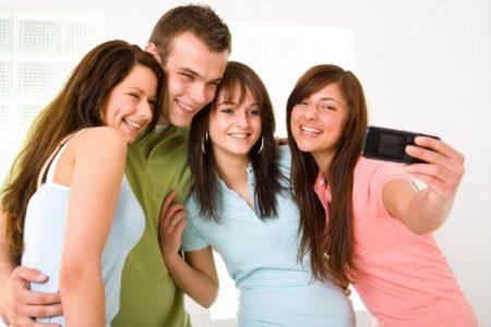 Teens using social media