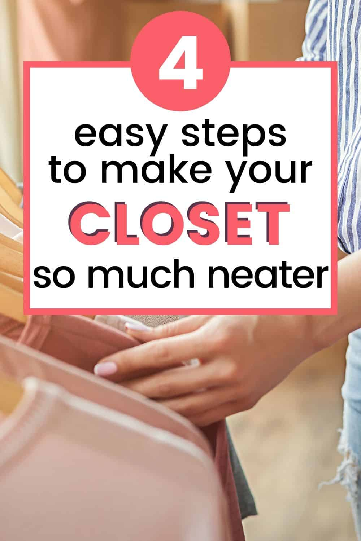 decluttering closet steps