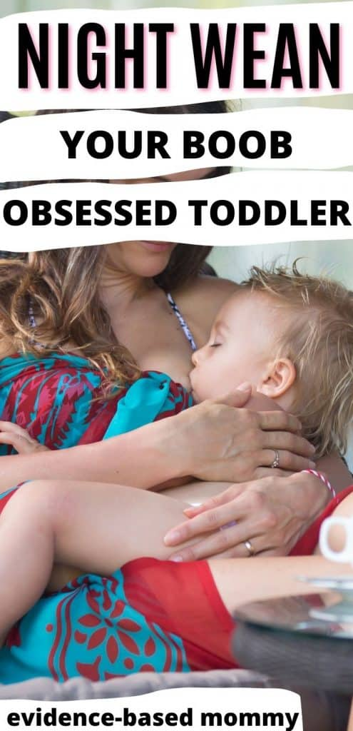 Night Wean your boob-obsessed toddler pin