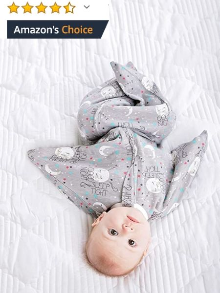 Baby in Zipadee-zip wearable blanket