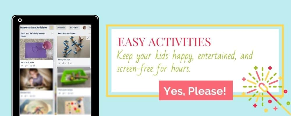 Click here for easy activities for your kids