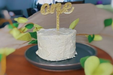 first birthday healthy butternut squash cake with cream cheese icing