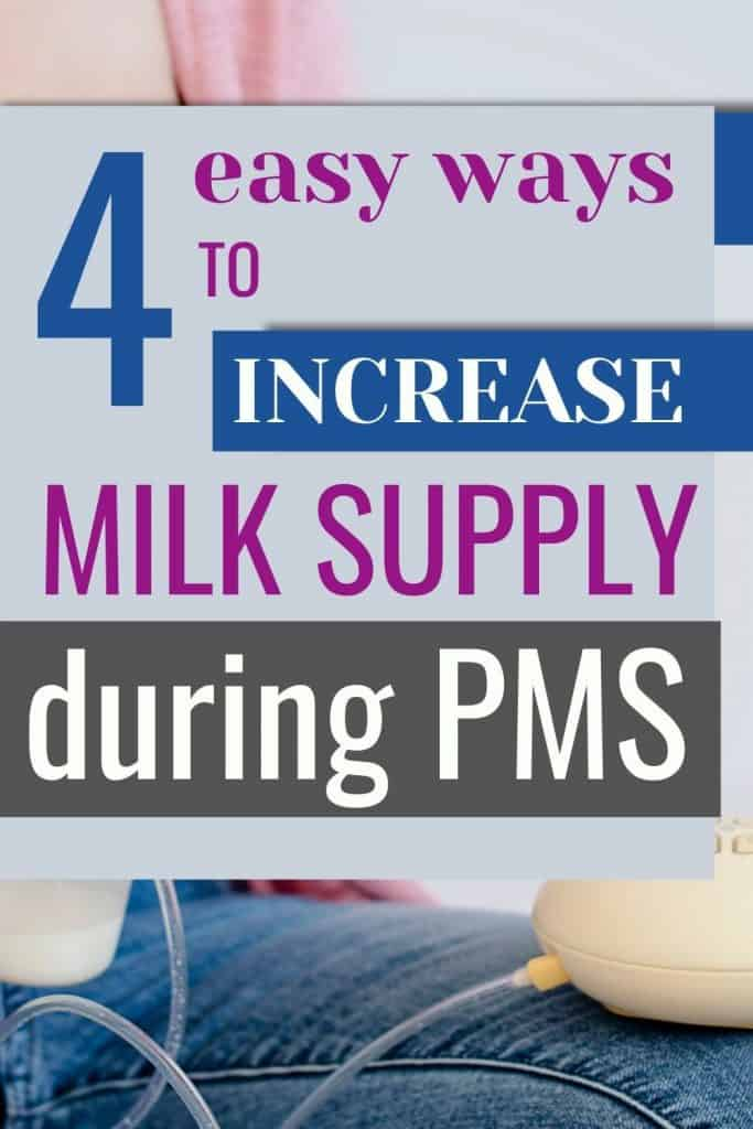does PMS make your milk supply decrease