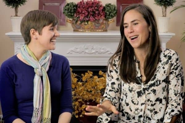 Genevieve and Maura from Mama Natural Birth Course discussing labor and birth