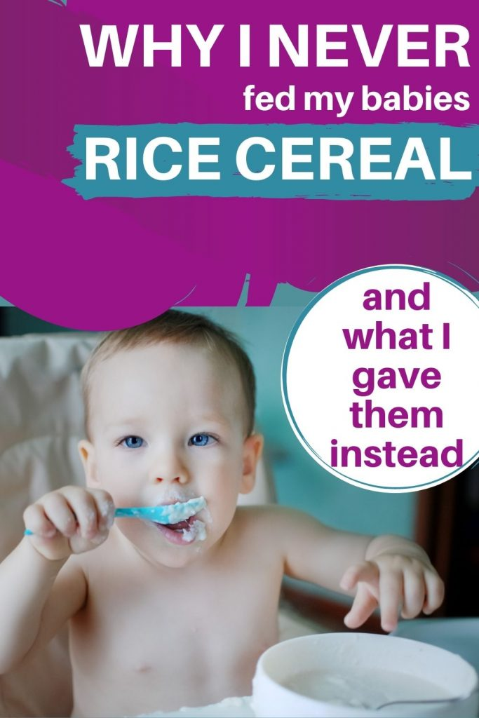 Why your baby shouldn't eat rice cereal