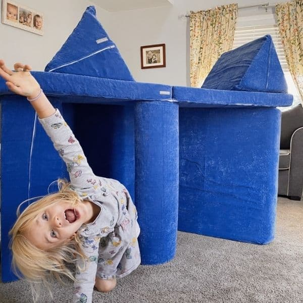 Brentwood home play couch set up like fort