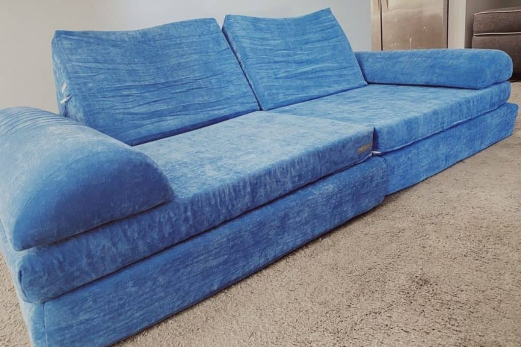 Brentwood Home play couch with six pieces - two rectangular pieces, two triangles, and two speed bumps