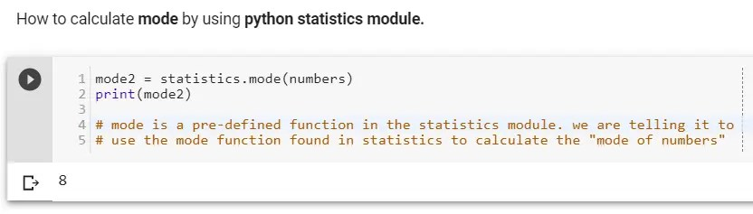 How to calculate mode by using python statistics module.