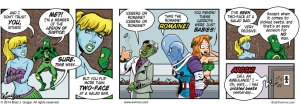 Two-Face at a salad bar - Evil Inc by Brad Guigar 20140904