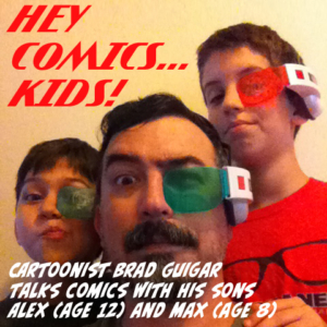 Hey Comics Kids podcast logo