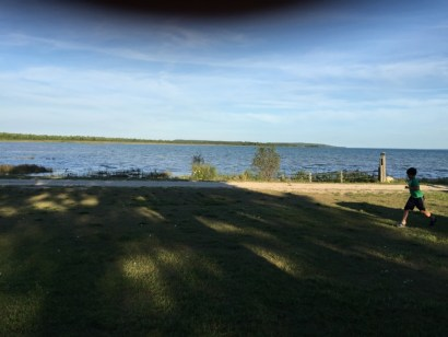 The view from the front of our cottage.