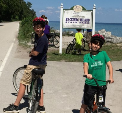 We took the ferry to visit Mackinac Island, and we biked the entire perimeter — 8.2 miles of Wow.