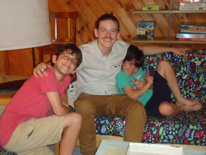 """Longtime readers will recognize the name """"Keagan."""" The Greystone Inn character was named after my nephew when he was first born. Thats him the the middle. Incidentally, he taught me more last week about Pokémon GP that I was able to learn for myself in a month."""