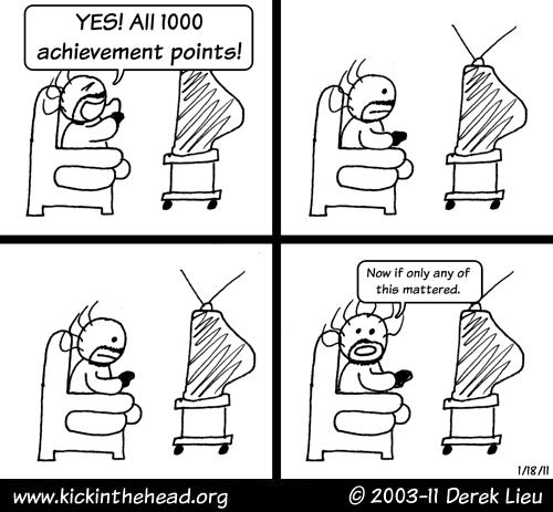 """""""Achievement Unlocked"""" comic by Derek Lieu"""