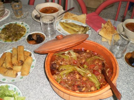 Table with Ramadan meal