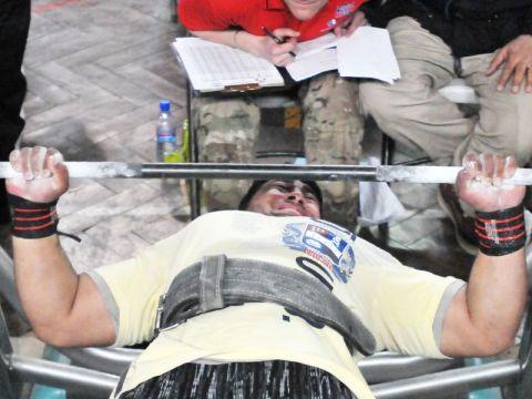 Man doing bench presses