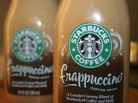 Starbucks low fat frappuccino bottles