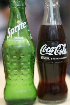 6.5 oz bottles of Coke and Sprite