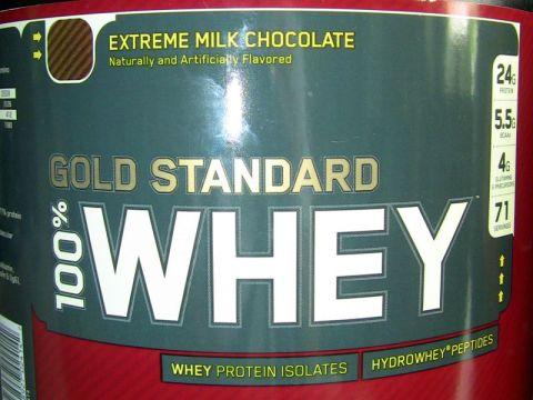 old tub of optimum nutrition whey