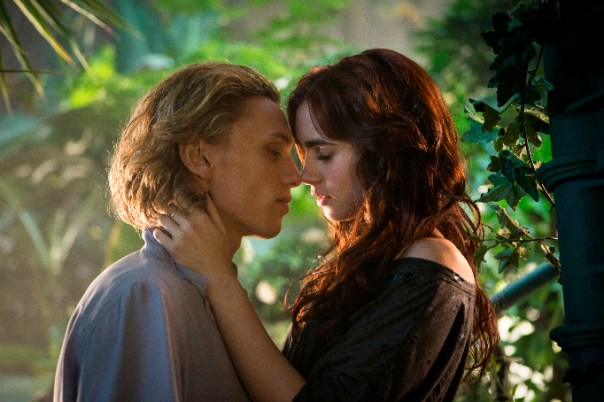 Jace and Clary having an awkward moment…if you see the movie you will know what I mean