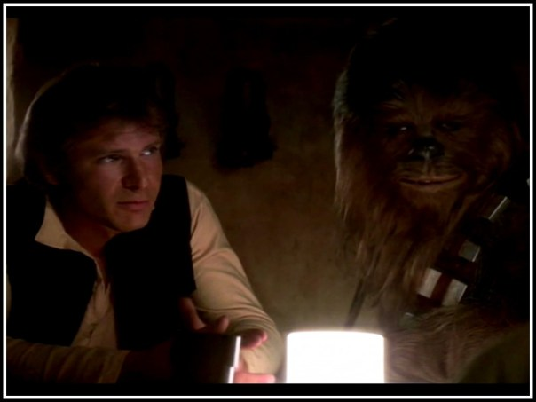 Despite his protest to the title, the scruffy look works so well for Han and Chewie alike.