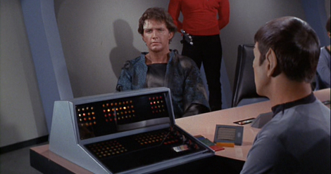 Spock borrowed his computer from his niece for this important interrogation.