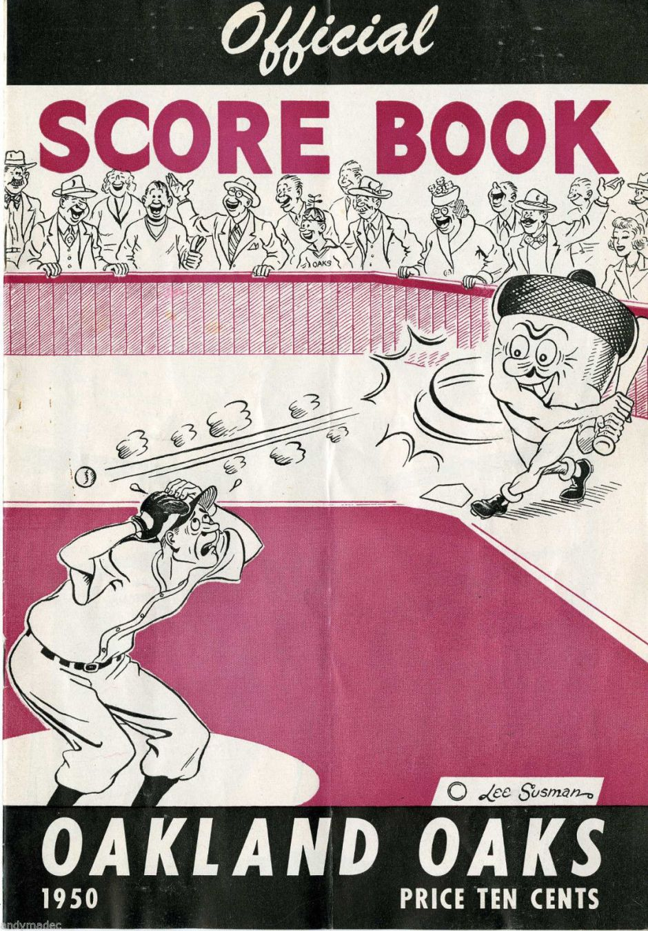 oakland-oaks-official-scorebook-ebay