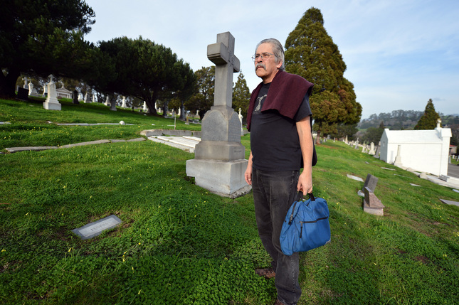 Alfred Janske is working to secure a headstone for Denis Cronin, an Alameda County law enforcement officer who was shot and killed in the line of duty in June 1897 (Photo: Kristopher Skinner/Bay Area News Group)