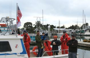 Coast Guard Auxiliary brought guests aboard.